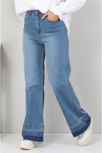 Sökük Trotter Detailed Jeans Pants TSD2256 Dark Blue