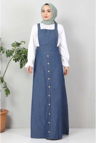 Board Button Jeans Salopet TSD4965 Blue