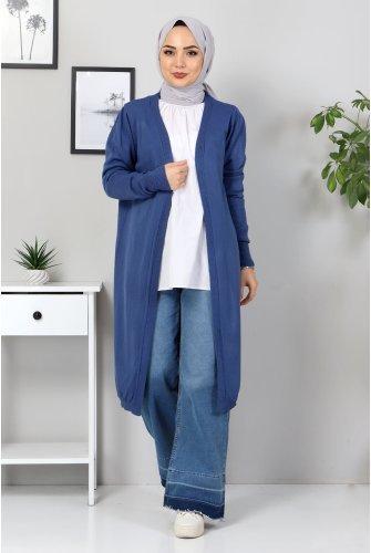 Knitwear Cardigan TSD5299 İndigo