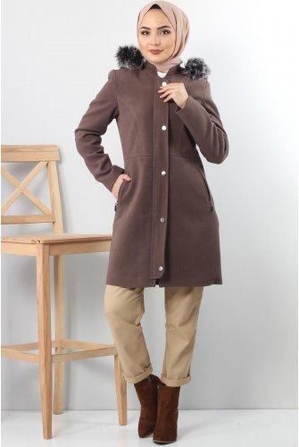 Snap Stamping fabric Coat TSD2908 Mink