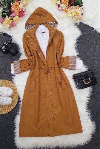 Astarı Striped Trench coat       -Soil