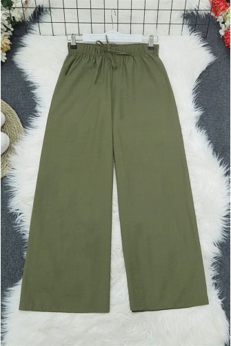 waisted Elastic down at heels Pants    -Camouflage