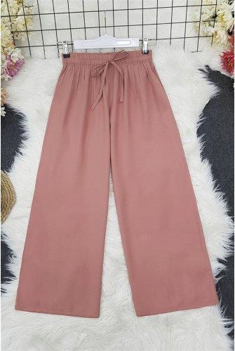waisted Elastic down at heels Pants    -Light Pink