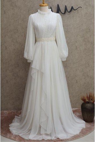waisted stony Tulle Dress -Ekru
