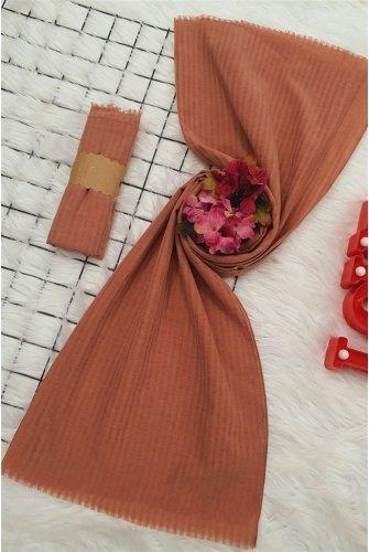 Striped Cotton Wrap -Rose Kurusu
