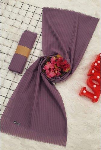 Striped Cotton Wrap -Purple