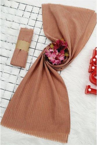 Striped Cotton Wrap -Light Pink