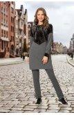 Dağınık Simli Suit -Grey