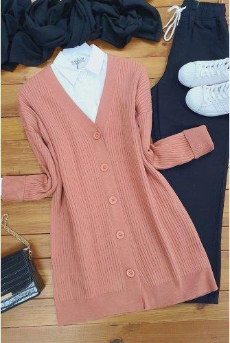 Button Knitwear Cardigan  -Rose Kurusu