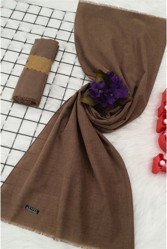 Flat Cotton Wrap           -Brown
