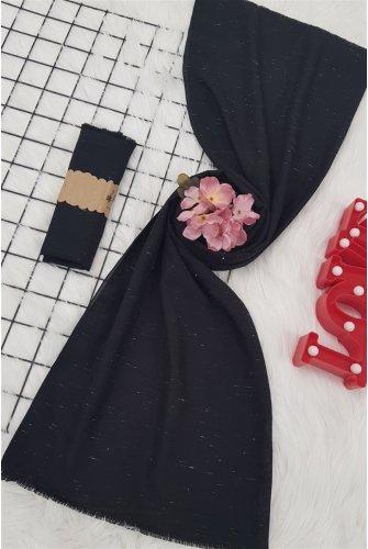 Eskitme Desen Viscose Wrap -Black