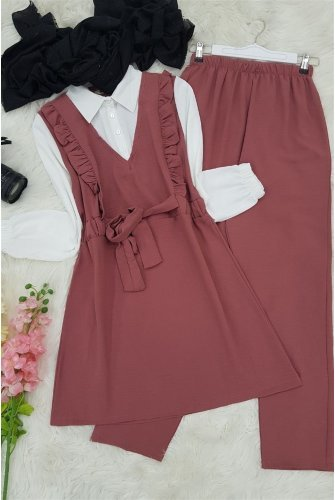 Shirt Topped Ayrobin Suit  -Light Pink