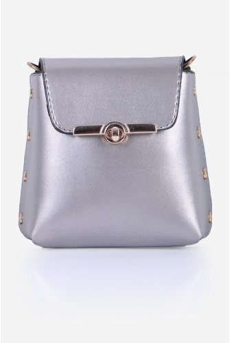 Grey Zımba Detailed Cross Bag