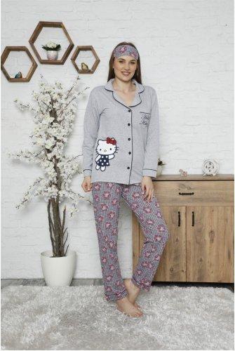 Hello Kitty Pyjamas Suit-Grey