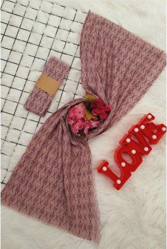 İnce Viscose Wrap -Pink