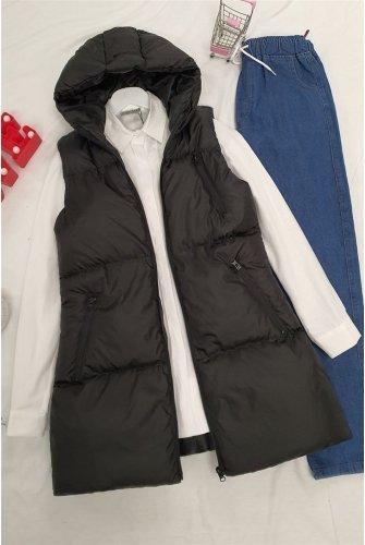 Hooded Inflatable Vest -Black