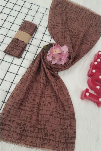 Karmaşık Desen Viscose Wrap -Light Pink