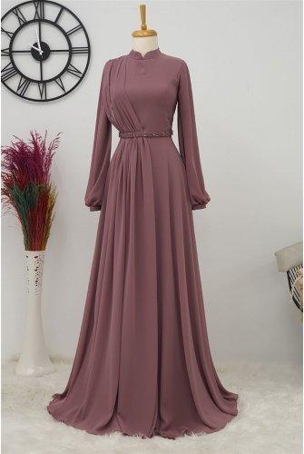 Belt stony Dress -Rose Kurusu