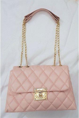 Locked Kapitone Kadın Bag -Light Pink