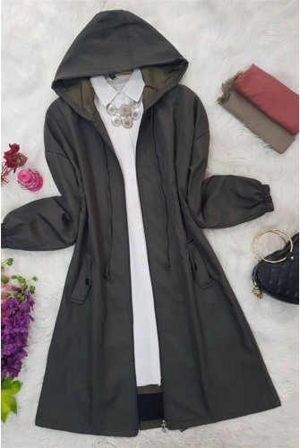 Short Lined Bondit Women-Jackets -Khaki
