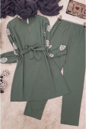 Arm Baskılı Ayrobin Suit -Green
