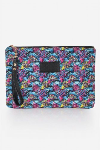 Blue/Pink Patterned El bag