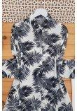 navy lace kimono
