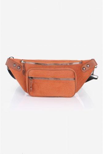 Taba Fitilli Velvet Waist bag