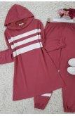 Three Striped Penye Suit -Rose Kurusu