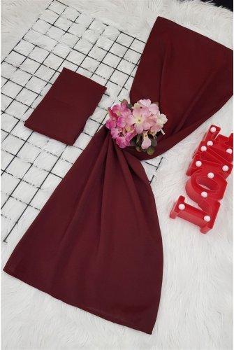 Yalın Silk Wrap -Claret Red