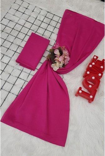 Yalın Silk Wrap -Hot pink