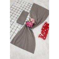 Yalın Silk Wrap     -Grey