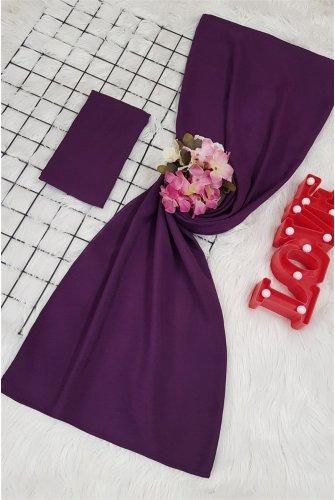 Yalın Silk Wrap -Purple