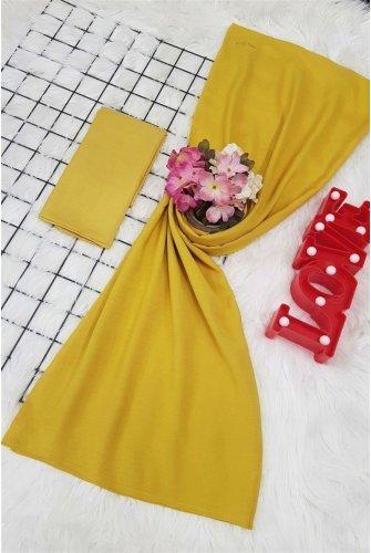Yalın Silk Wrap -Yellow