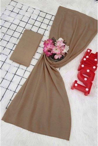 Yalın Silk Wrap   -Mink