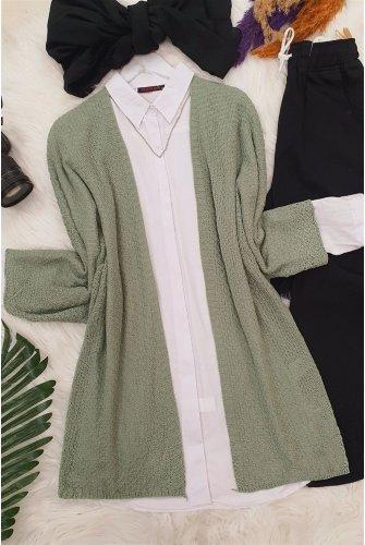 Yarasa Arm Cardigan -Green