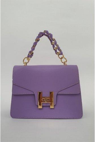 chained Locked Kadın Bag -Lila