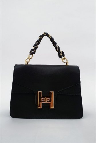 chained Locked Kadın Bag -Black