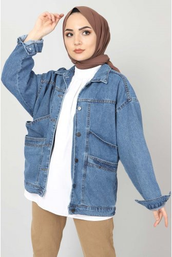 Vintage Jeans Jacket TSD1723 Blue