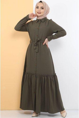 baggy Hijab Dress TSD1515 Khaki