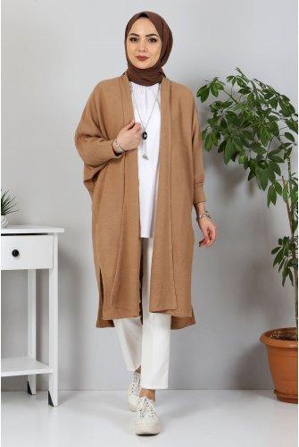 Yarasa Arm Knitwear Cardigan TSD5297 Camel